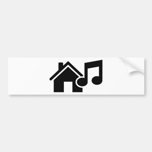 Hausmusikanmerkung Auto Aufkleber