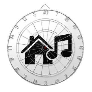 Hausmusikanmerkung Dart-scheibe