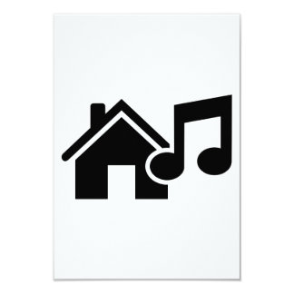 Hausmusikanmerkung 8,9 X 12,7 Cm Einladungskarte