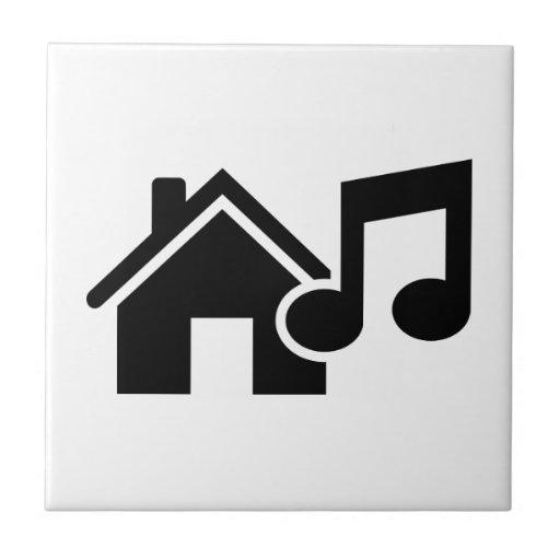 Hausmusikanmerkung Keramikkachel
