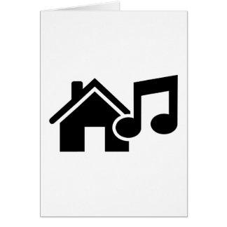 Hausmusikanmerkung Karte