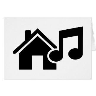 Hausmusikanmerkung Grußkarte