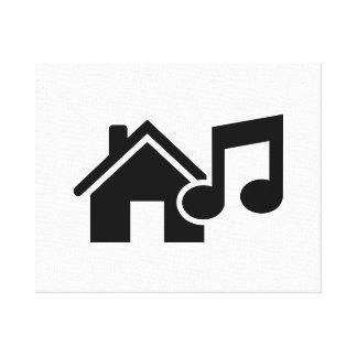 Hausmusikanmerkung Gespannter Galeriedruck