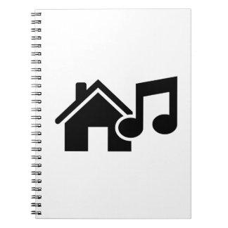 Hausmusikanmerkung Notiz Buch