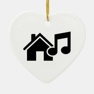 Hausmusikanmerkung Keramik Herz-Ornament