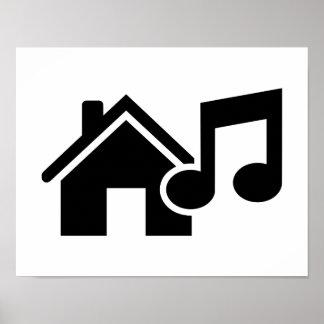 Hausmusikanmerkung Poster