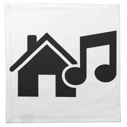 Hausmusikanmerkung Bedruckte Servietten