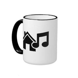 Hausmusikanmerkung Tasse