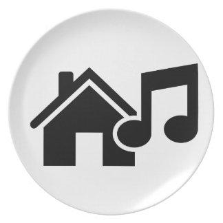 Hausmusikanmerkung Teller