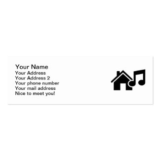 Hausmusikanmerkung Visitenkartenvorlage
