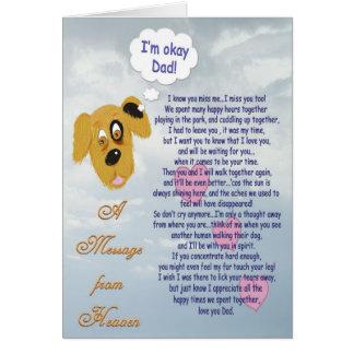 Haustier Beileids-/Hund-Manninhaber Karte