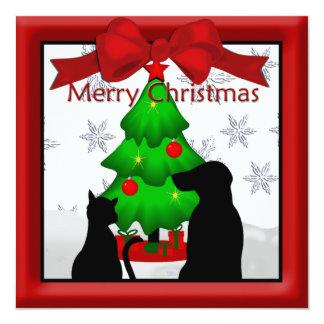 Haustier-Freund-Weihnachtsgruß Quadratische 13,3 Cm Einladungskarte