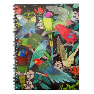 Haustier-Papageien des Notizbuches der Weltii Notizblock