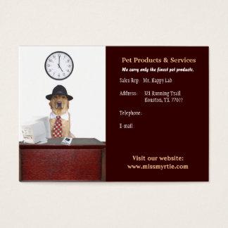 Haustier-Produkte u. Dienstleistungen Jumbo-Visitenkarten