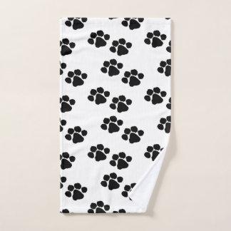 Haustier-Tatzen-Drucke Handtuch