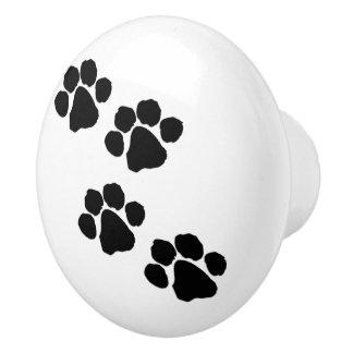 Haustier-Tatzen-Drucke Keramikknauf