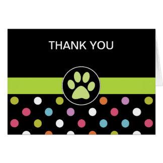 Haustier-Thema-Geschäft danken Ihnen Karten