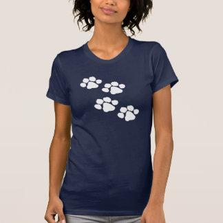 Haustier-Tier-Tatzen-Drucke T-Shirt