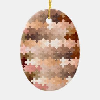 Haut-Ton-Laubsägen-Stücke Ovales Keramik Ornament