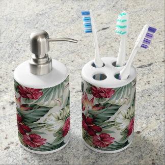 Hawaii inspirierte Entwurf Seifenspender & Zahnbürstenhalter