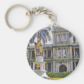 Hawaii-König Kamehameha Modern Schlüsselanhänger
