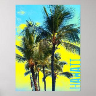 Hawaii-Palmengelbplakat Poster
