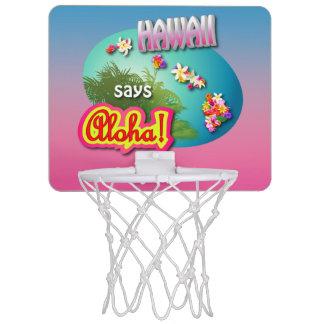 Hawaii sagt Aloha! Mini Basketball Netz