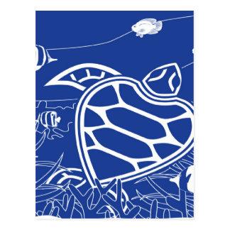 Hawaii-Schildkröte - Honu Postkarte
