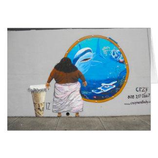 Hawaii-Straßen-Kunst-Wandgemälde Karte