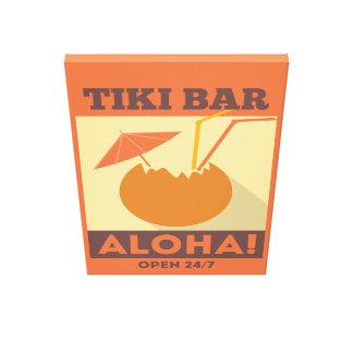 Hawaiianer Aloha Tiki Bar Leinwanddruck