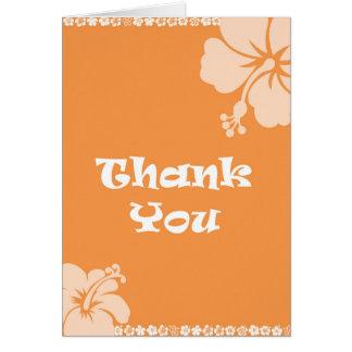 Hawaiianer danken Ihnen Grußkarte