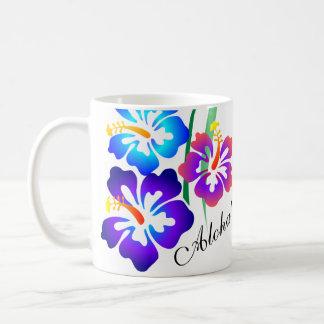 Hawaiische Hibiskus-Blumen Aloha Tasse