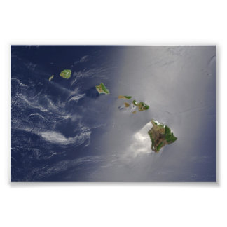 Hawaiische Insel-Satelliten-Ansicht Fotografien