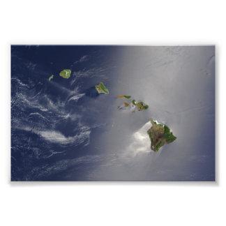 Hawaiische Insel-Satelliten-Ansicht Kunstfotos