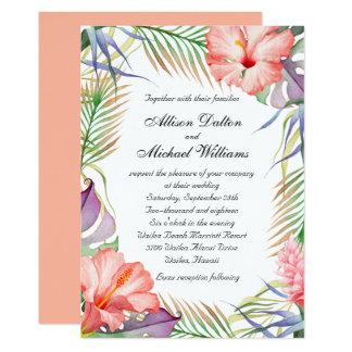 Hawaiian Luau Tropical Floral Wedding