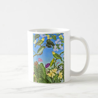 Hawaiischer O'u Vogel Kaffeetasse
