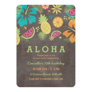 Hawaiisches Luau scherzt Party Einladung