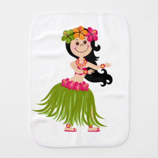 Hawaiisches Mädchen Baby Spucktuch
