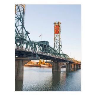 Hawthorne Brücken-Portland-Tageszeit Postkarte