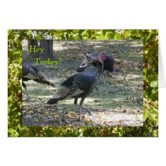 He die Türkei! Das Denken an Sie kardieren Karte
