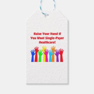 Heben Sie Ihre Hand für Single-Zahler Geschenkanhänger