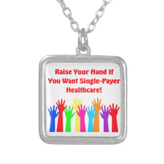 Heben Sie Ihre Hand für Single-Zahler Versilberte Kette