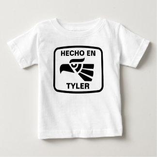 Hecho en Tyler personalizado Gewohnheit Baby T-shirt
