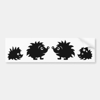 HedgehogSilhouetteAll Autoaufkleber