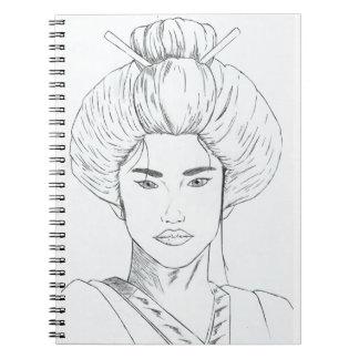 Heft Entwurf Geisha Spiral Notizblock