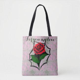 Heftige Kunst-Rosen-Tasche Tasche aufgrund der