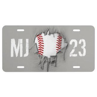 Heftiger Baseball US Nummernschild