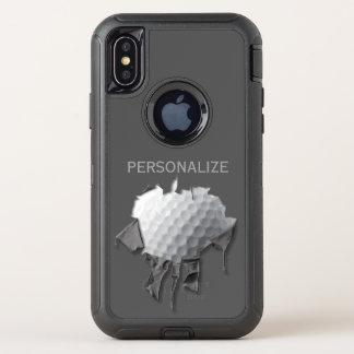 Heftiger Golfball OtterBox Defender iPhone X Hülle