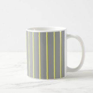 Heide-und Kanarienvogel-Nadelstreifen Kaffeetasse