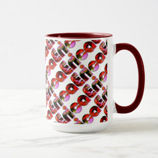 Heidekraut fertigte roten Entwurf 15 Tasse